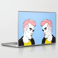 the smiths Laptop & iPad Skins featuring This Charming Man by Grace Teaney Art