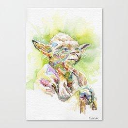 Yoda The Jedi Master Canvas Print
