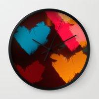 hearts Wall Clocks featuring Hearts by Tanya Thomas