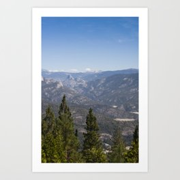 Mountains And Pine Trees Art Print