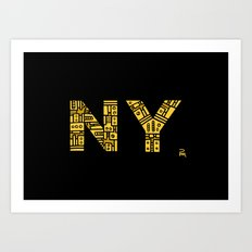 NIGHT NY - PM Art Print