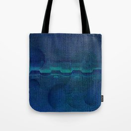 Dark Navy Blue Textured Abstract Tote Bag