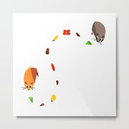 Hammy food trail Metal Print