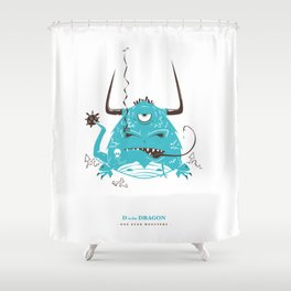 D is for Dragon Shower Curtain