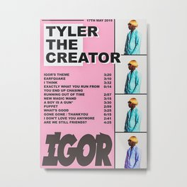 Tyler The Creator Metal Print