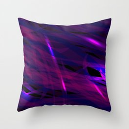 Rich purple and smooth sparkling lines of blueberry ribbons on the theme of space and abstraction. Throw Pillow