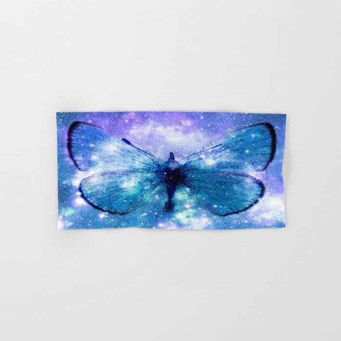Celestial Butterfly Violet Teal Hand & Bath Towel