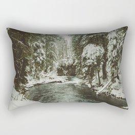 Adventure Awaits River II - Pacific Northwest Nature Photography Rectangular Pillow