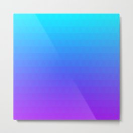 Blue and Purple Ombre Metal Print