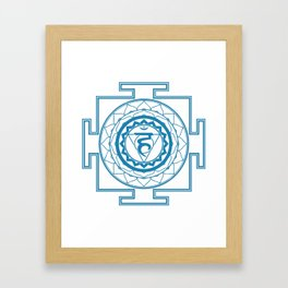 Sri Yantra Throat Chakra Framed Art Print