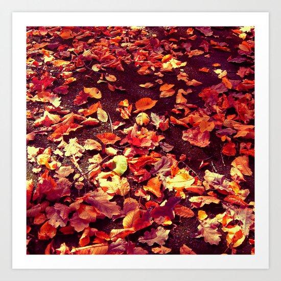 autumn path abstract I Art Print