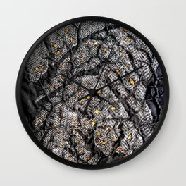 In the golden forest Wall Clock
