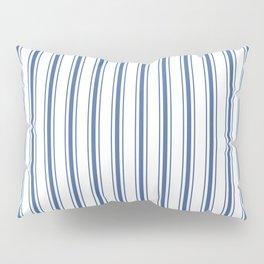 Mattress Ticking Wide Striped Pattern in Dark Blue and White Pillow Sham