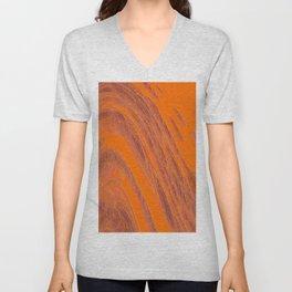 flow of loops, jewels on orange Unisex V-Neck