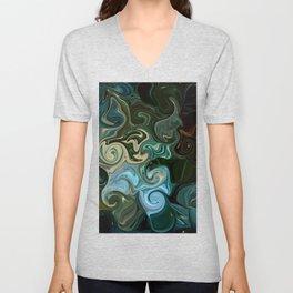 Goddess of Nature Abstract Unisex V-Neck