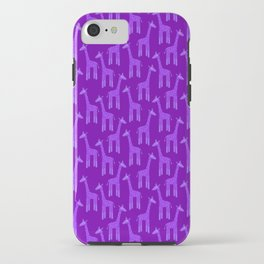 Giraffes-Purple iPhone Case