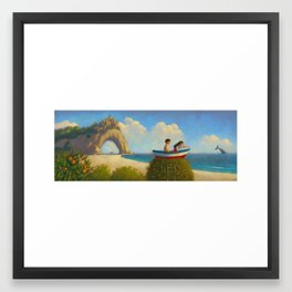 At the sea Framed Art Print