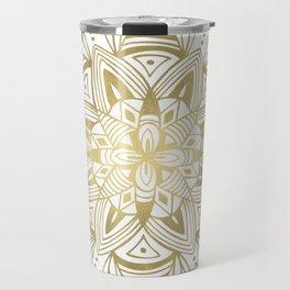 Mandala - Gold Travel Mug