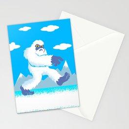 Cartoon yeti Stationery Cards