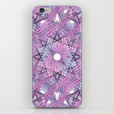 Web in pink and grey iPhone Skin