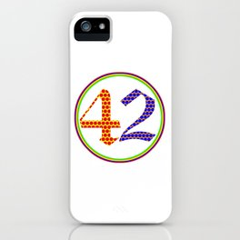 Answer to the Ultimate Question of Life, the Universe, and Everything iPhone Case
