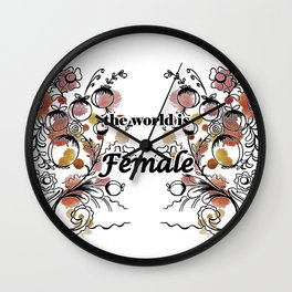 letterings with flowers Wall Clock