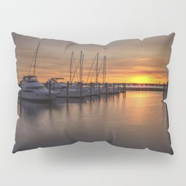 Boats At Sunset Pillow Sham