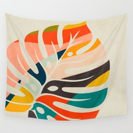 shape leave modern mid century Wall Tapestry