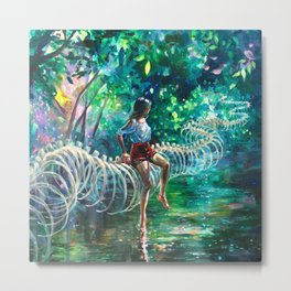Dopamine Jungle Metal Print