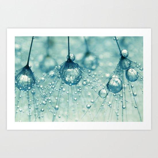 Sparkling Dandy Drops Art Print