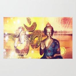 Buddha und Om Zeichen - Vektor Rug