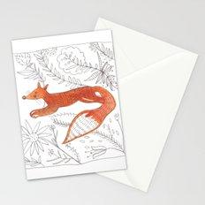 Decorative fox Stationery Cards