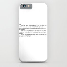 jersey shore anonymous note iPhone Case