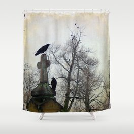 A Gatherng Of Crows Shower Curtain