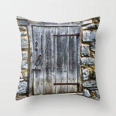 Door at the Mill Throw Pillow