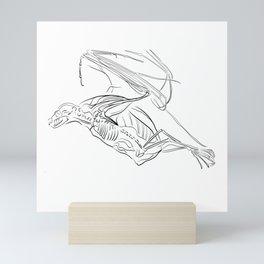 Bat X-ray Mini Art Print