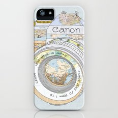 TRAVEL CAN0N iPhone (5, 5s) Slim Case