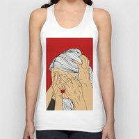 introvert Tank Tops featuring Introvert 4 by Heidi Banford