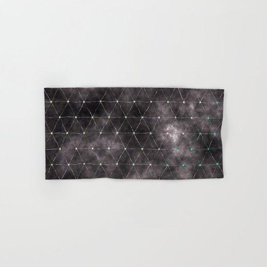 Galaxy - modern abstract dark grunge triangles pattern Hand & Bath Towel