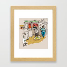 Guy Concordia - Montreal / Metro Concordia Subway Framed Art Print