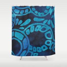 Blue Batik 09 Shower Curtain
