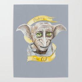 Dobby free Elf Harry Patter Poster