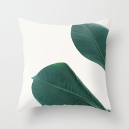 Rubber Fig Leaves I Throw Pillow