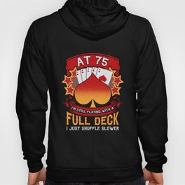 75th Birthday - Playing Cards Poker Themed Hoody