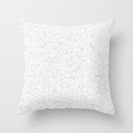 Sketchy Trees Throw Pillow