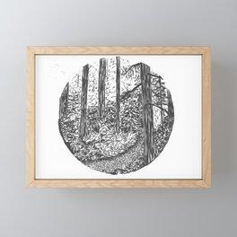 Peering into the Forest Framed Mini Art Print