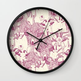 just goats cherry pearl Wall Clock