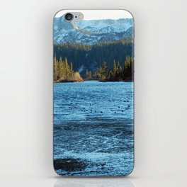 Convict Lake in the winter iPhone Skin