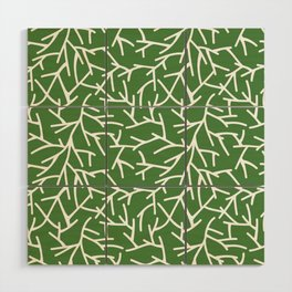 Branches - green Wood Wall Art