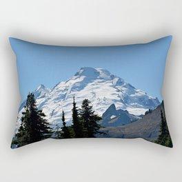 Snow Cap on the Mountain Rectangular Pillow